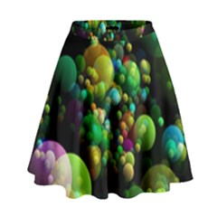 Abstract Balls Color About High Waist Skirt