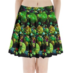 Abstract Balls Color About Pleated Mini Skirt