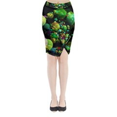 Abstract Balls Color About Midi Wrap Pencil Skirt