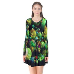 Abstract Balls Color About Flare Dress