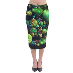 Abstract Balls Color About Velvet Midi Pencil Skirt