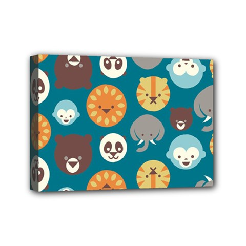 Animal Pattern Mini Canvas 7  x 5
