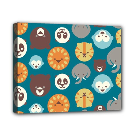 Animal Pattern Canvas 10  x 8