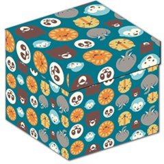 Animal Pattern Storage Stool 12