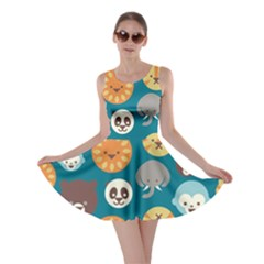 Animal Pattern Skater Dress
