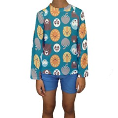 Animal Pattern Kids  Long Sleeve Swimwear