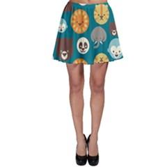 Animal Pattern Skater Skirt