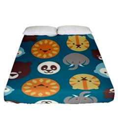 Animal Pattern Fitted Sheet (Queen Size)