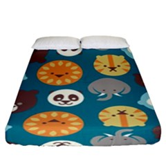Animal Pattern Fitted Sheet (King Size)