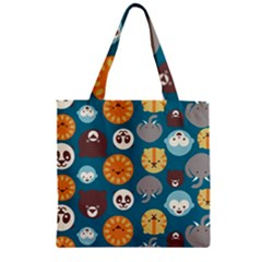 Animal Pattern Zipper Grocery Tote Bag