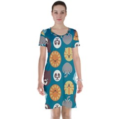 Animal Pattern Short Sleeve Nightdress