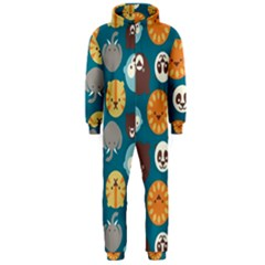 Animal Pattern Hooded Jumpsuit (Men)