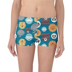 Animal Pattern Boyleg Bikini Bottoms