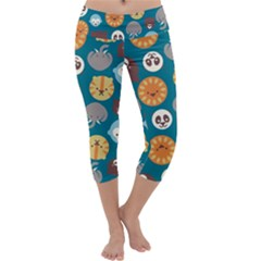 Animal Pattern Capri Yoga Leggings