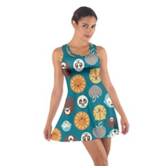 Animal Pattern Cotton Racerback Dress