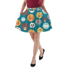 Animal Pattern A-Line Pocket Skirt