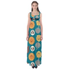 Animal Pattern Empire Waist Maxi Dress
