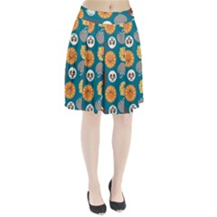 Animal Pattern Pleated Skirt