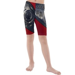 Auto Red Fast Sport Kids  Mid Length Swim Shorts