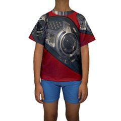 Auto Red Fast Sport Kids  Short Sleeve Swimwear