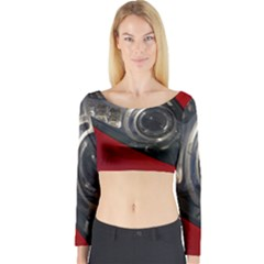 Auto Red Fast Sport Long Sleeve Crop Top