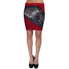 Auto Red Fast Sport Bodycon Skirt