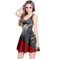 Auto Red Fast Sport Reversible Sleeveless Dress