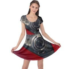 Auto Red Fast Sport Cap Sleeve Dresses