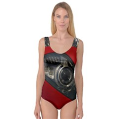 Auto Red Fast Sport Princess Tank Leotard