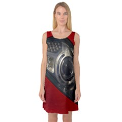 Auto Red Fast Sport Sleeveless Satin Nightdress