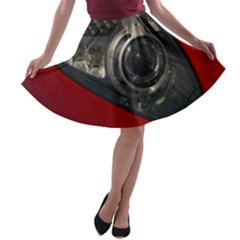 Auto Red Fast Sport A-line Skater Skirt