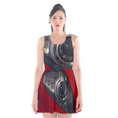 Auto Red Fast Sport Scoop Neck Skater Dress