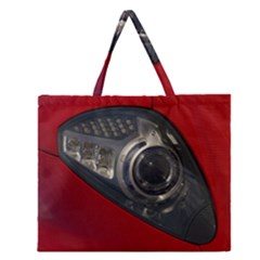 Auto Red Fast Sport Zipper Large Tote Bag