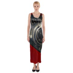 Auto Red Fast Sport Fitted Maxi Dress