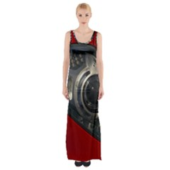 Auto Red Fast Sport Maxi Thigh Split Dress