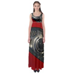 Auto Red Fast Sport Empire Waist Maxi Dress