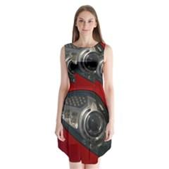 Auto Red Fast Sport Sleeveless Chiffon Dress