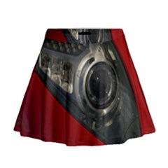 Auto Red Fast Sport Mini Flare Skirt