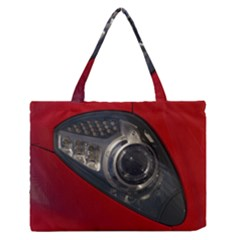 Auto Red Fast Sport Medium Zipper Tote Bag