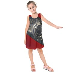 Auto Red Fast Sport Kids  Sleeveless Dress