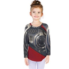 Auto Red Fast Sport Kids  Long Sleeve Tee