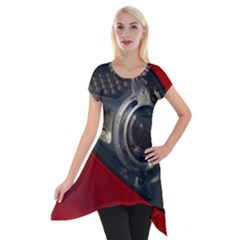 Auto Red Fast Sport Short Sleeve Side Drop Tunic