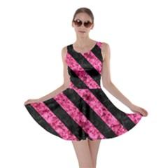 STR3 BK-PK MARBLE (R) Skater Dress