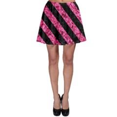 STR3 BK-PK MARBLE (R) Skater Skirt