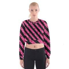 STR3 BK-PK MARBLE (R) Women s Cropped Sweatshirt