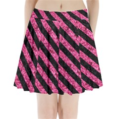 STR3 BK-PK MARBLE (R) Pleated Mini Skirt