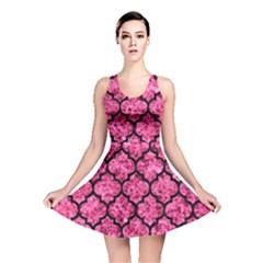TIL1 BK-PK MARBLE (R) Reversible Skater Dress
