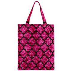 Tile1 Black Marble & Pink Marble (r) Zipper Classic Tote Bag