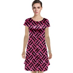 Woven2 Black Marble & Pink Marble (r) Cap Sleeve Nightdress