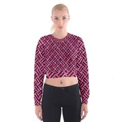 WOV2 BK-PK MARBLE (R) Women s Cropped Sweatshirt